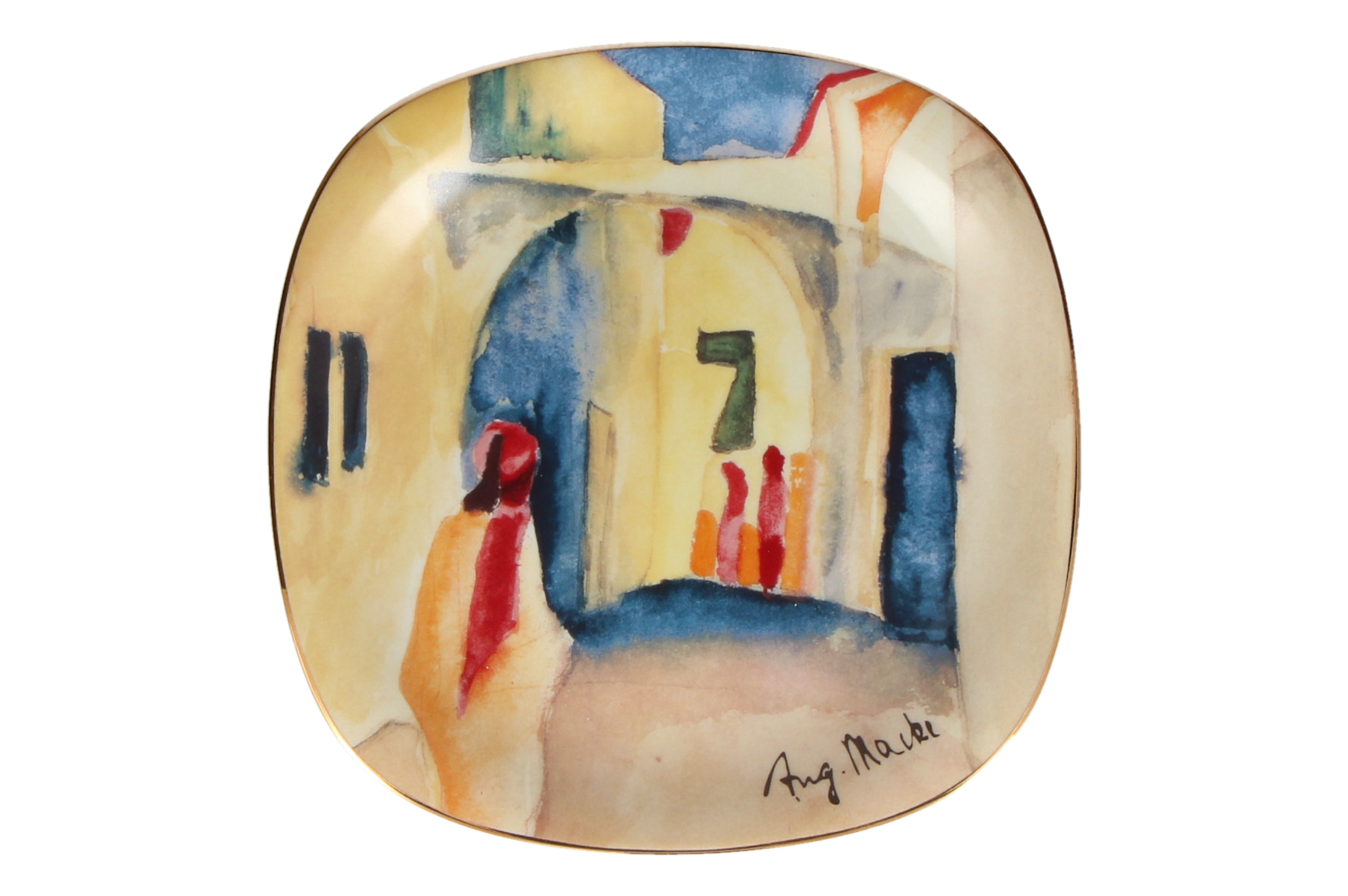 A ROSENTHAL CLASSIC August Macke wall plate 'Blick in eine